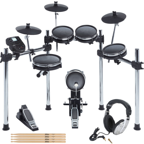 Alesis Surge Mesh Kit Eight-Piece Electronic Drum Kit with Mesh Heads + headphones + Drum Sticks