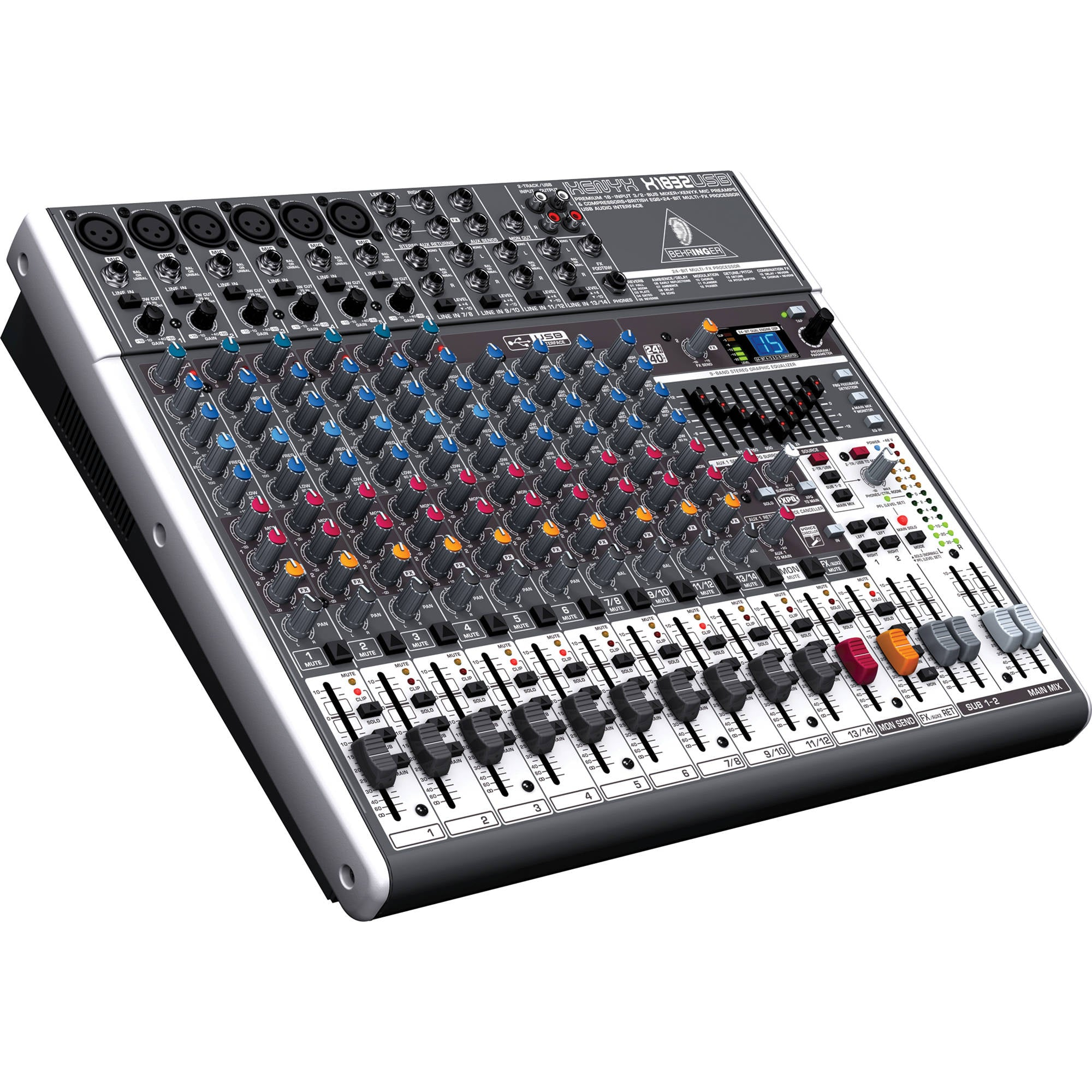 behringer xenyx x1832usb 18 input usb audio mixer with effects ebay. Black Bedroom Furniture Sets. Home Design Ideas