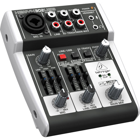 Behringer XENYX 302USB 5-Input Compact Mixer and USB Interface