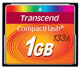 Transcend 1 GB 133x High Speed Compact Flash CF Memory Card - 8158