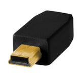 TetherPro USB 2.0 Male to Mini-B 5 pin, 1', Black