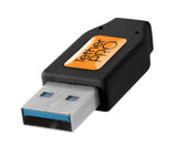 TetherPro USB 3.0 male to Micro-B, 10', Black