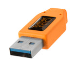 TetherPro USB 3.0 male to Micro-B, 15', Orange