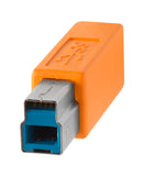 TetherPro USB 3.0 Male A to Male B, 15', Orange
