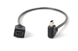 "Tether Tools TetherPro Mini B USB 2.0 Right Angle Cable Adapter BLK 12"" (30cm)"