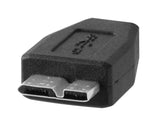 "TetherPro USB 3.0 OTG 6"" Adapter Micro B Male to Type A Female adapter"