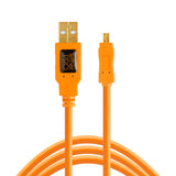 Tether Tools TetherPro USB 2.0 A to Mini-B 8 pin 15' ORG