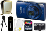 Canon PowerShot ELPH 190 IS Digital Camera (Blue) + 16 GB & Accessory Bundle
