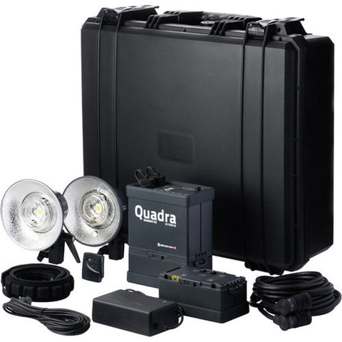 Elinchrom Quadra Hybrid Li-Ion Pro 2 Light Kit with S Flash Heads - 88