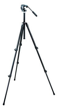 Manfrotto 055XDB Black Basic Tripod with 128LP Micro Fluid Head - 3109