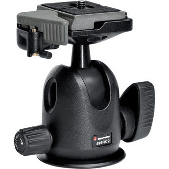 Manfrotto 496RC2 Compact Ball Head with RC2 QR Plate - 3054