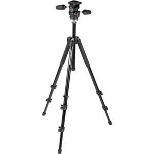 Manfrotto 294 Aluminum 3 Section Tripod with 3 Way Photo/Video Head Ma
