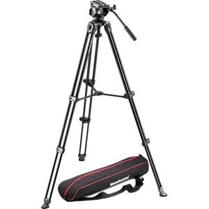 Manfrotto MVH500A Fluid Drag Video Head with MVT502AM Tripod and Carry