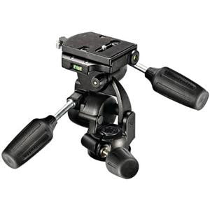 Manfrotto 808RC4 3-Way Pan/Tilt Head with Quick Release - Supports 17.
