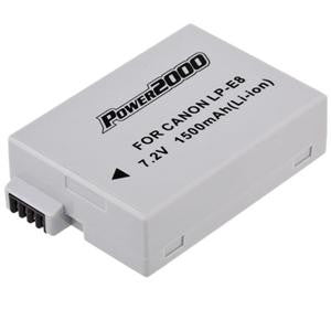 Power 2000 LP-E8 Replacement Lithium-Ion Battery 7.4 volt 1500mAh for