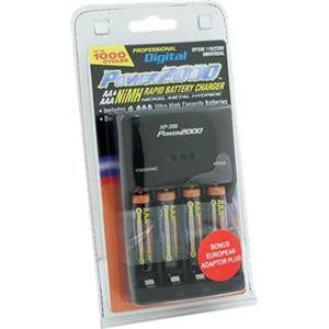 Power2000 4 AAA Nickel Metal Hydride (NiMH) 1000mAh Rechargeable Batte