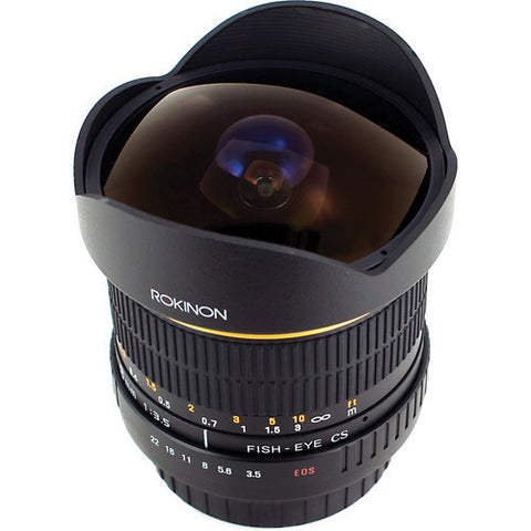 Rokinon 8mm Ultra Wide Angle f/3.5 Fisheye Lens for Canon EF Mount - 7