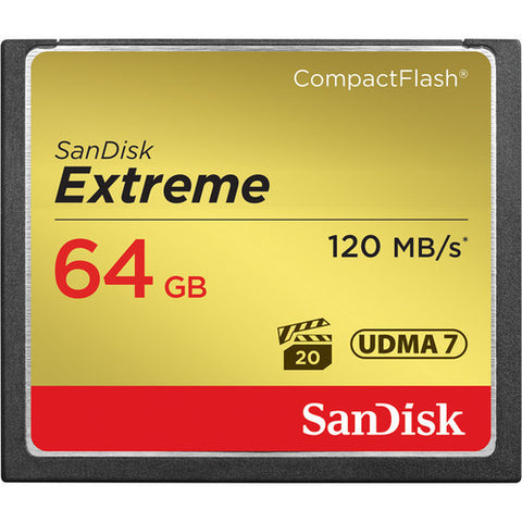 SanDisk 64GB 800x Extreme CompactFlash Memory Card (120MB/s)