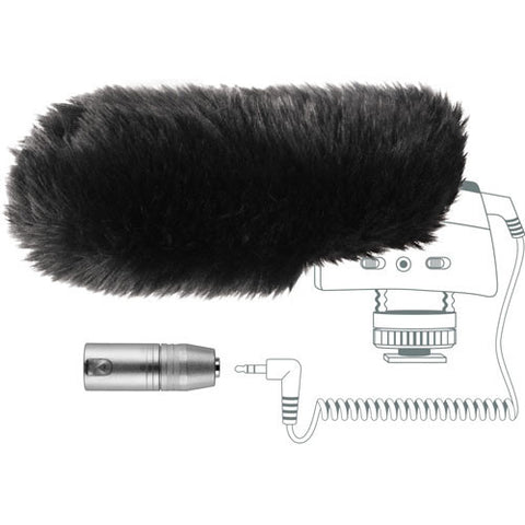 Sennheiser MZW400 Wind-muff and XLR Adapter Kit for the MKE400 - 7992