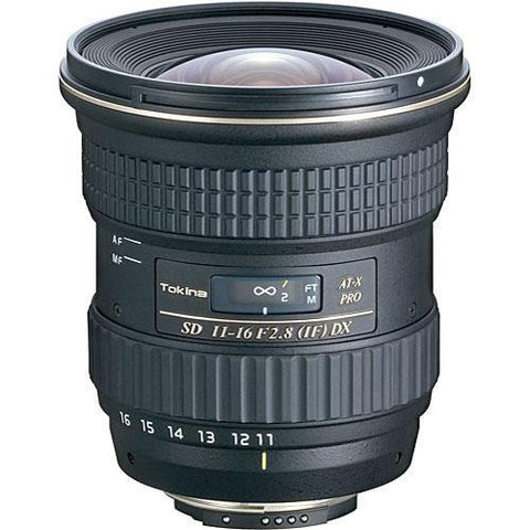 Tokina 11-16mm f/2.8 AT-X 116 Pro DX Autofocus Lens for Nikon DX-Forma