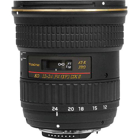 Tokina 12-24mm f/4 AT-X 124 AF Pro DX II Lens - For Nikon Digital Came