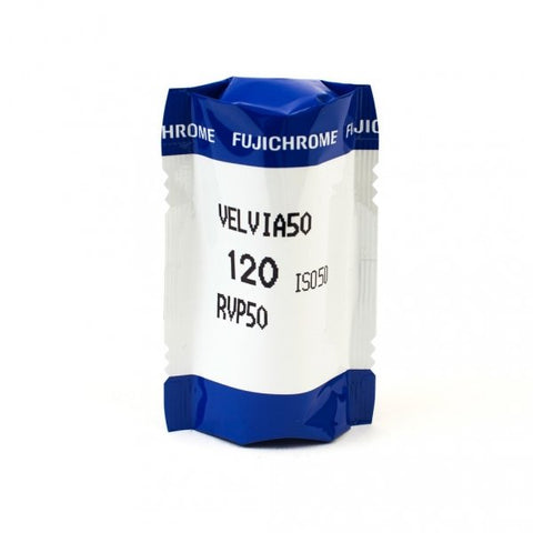 FUJIFILM Fujichrome Velvia 50 Professional RVP 50 Color Transparency Film (120 Roll Film,
