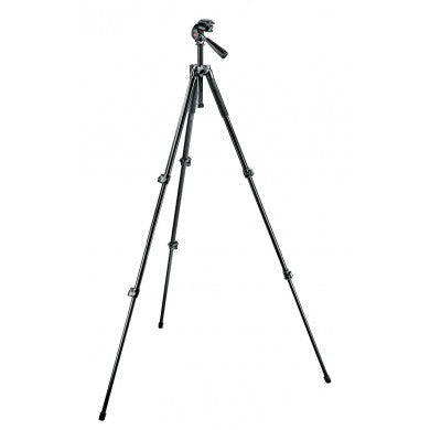 Manfrotto 293 Aluminum 3 Section Tripod with QR 3 Way Head - 6154