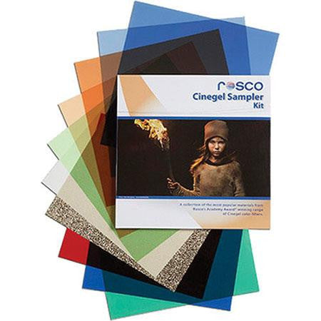 "Rosco Cinegel Sampler Filter Kit, 12"" x 12"" Sheets"