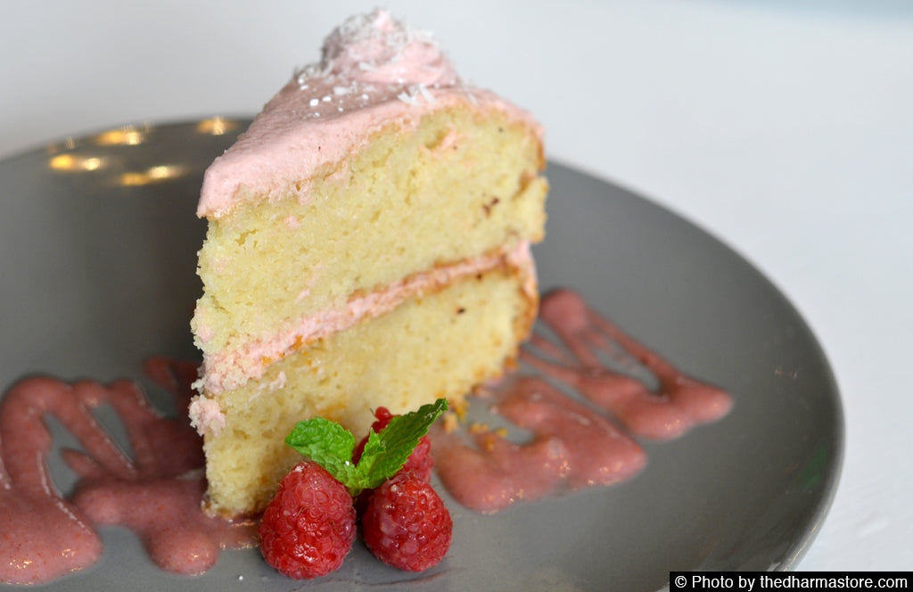 Crate - Vegan restaurant in Miami - Raspberry vanilla cake