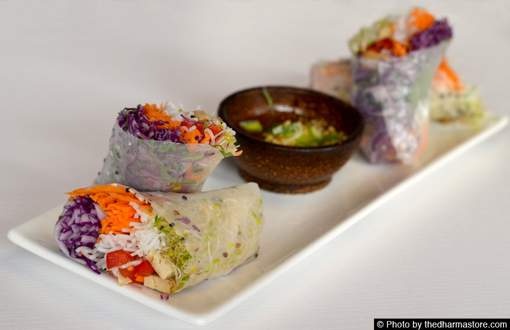 Crate - Vegan restaurant in Miami - Summer veggie rolls