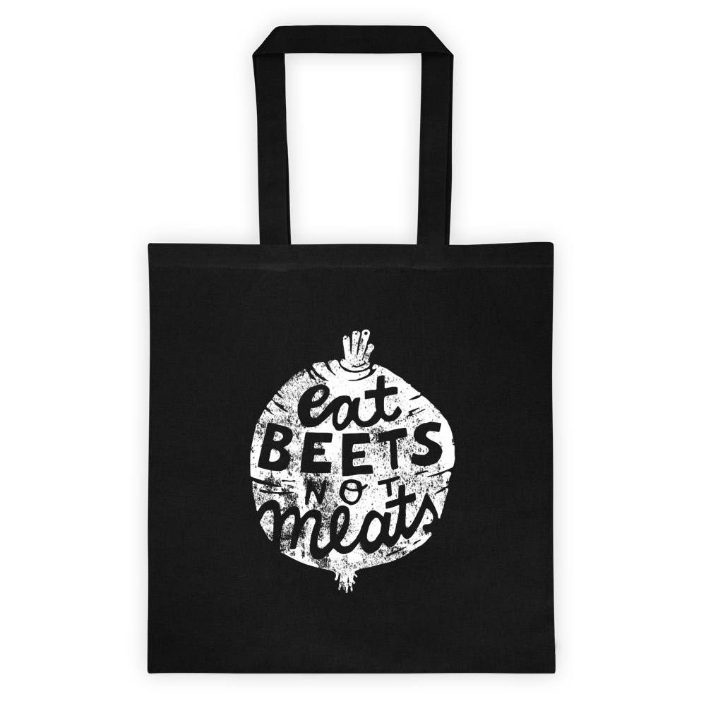 Vegan Bag - Vegan Tote Bag - Eat beets not meats