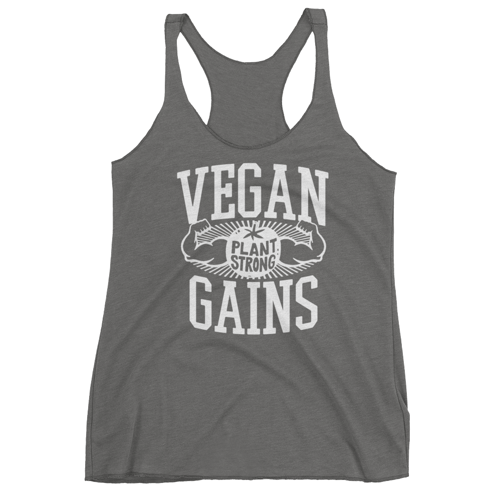Vegan Tank Top - Vegan Gains - Premium Heather