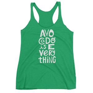 Vegan Tank Top - Avocado is Everything  - Envy (Green)
