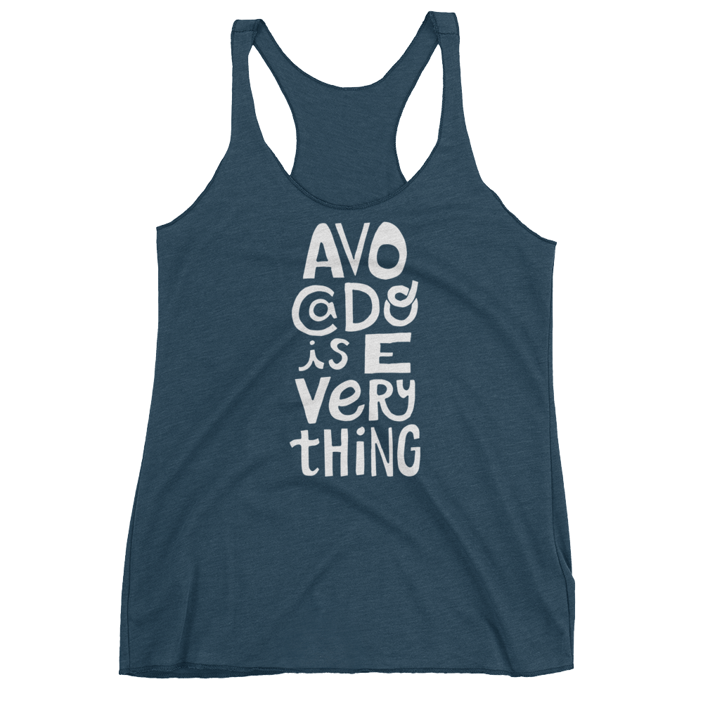 Vegan Tank Top - Avocado is Everything  - Indigo