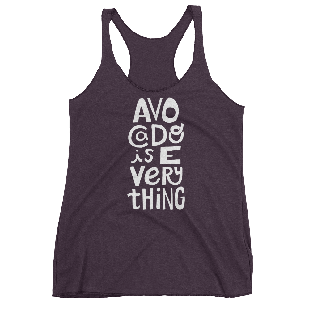 Vegan Tank Top - Avocado is Everything  - Vintage Purple
