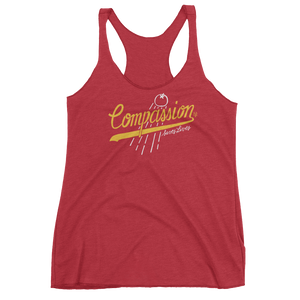 Vegan Tank Top - Compassion Saves Lives - Vintage Red