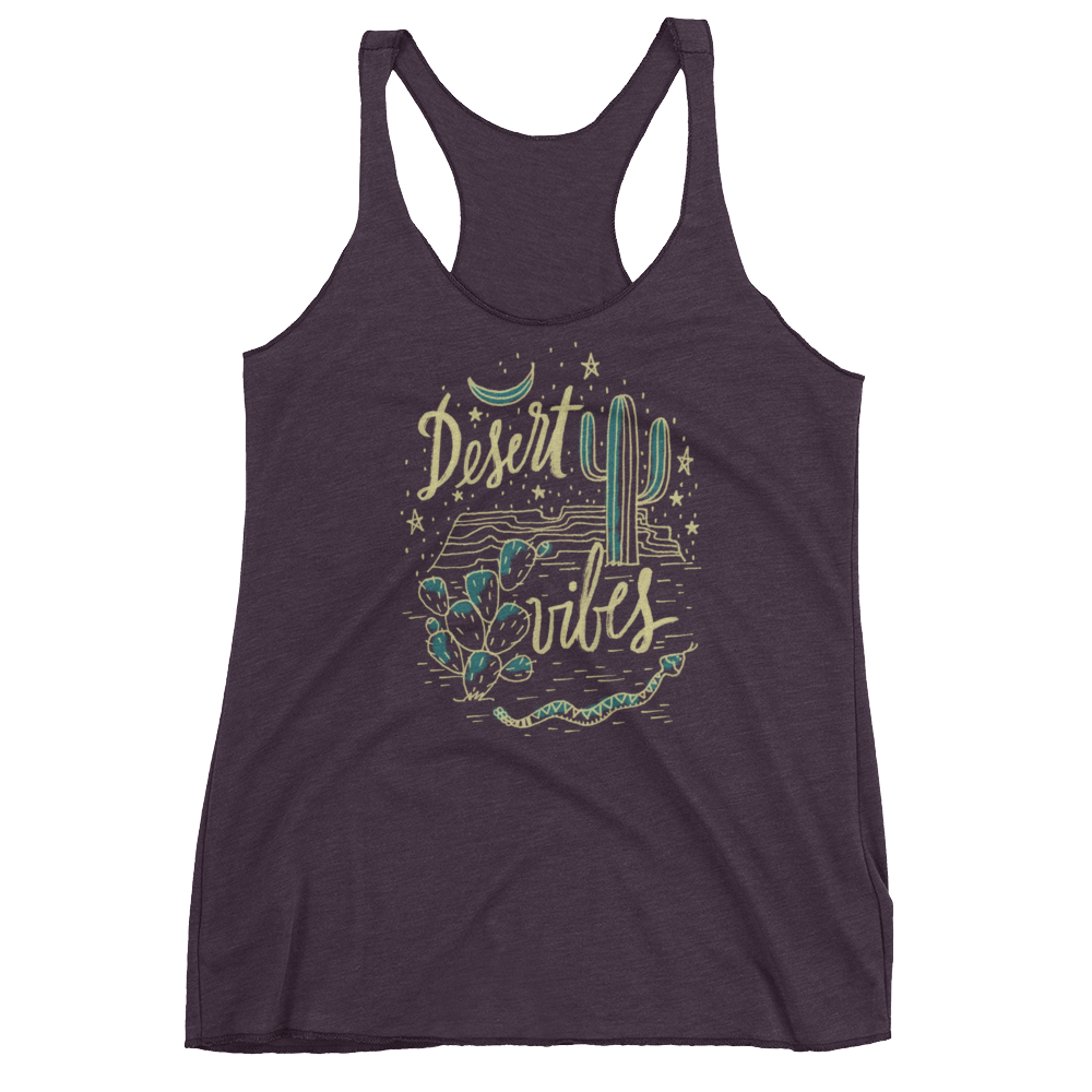 Vegan Tank Top - Desert Vibes - Vintage Purple