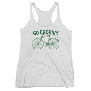 Vegan Tank Top - Go Organic - Heather White