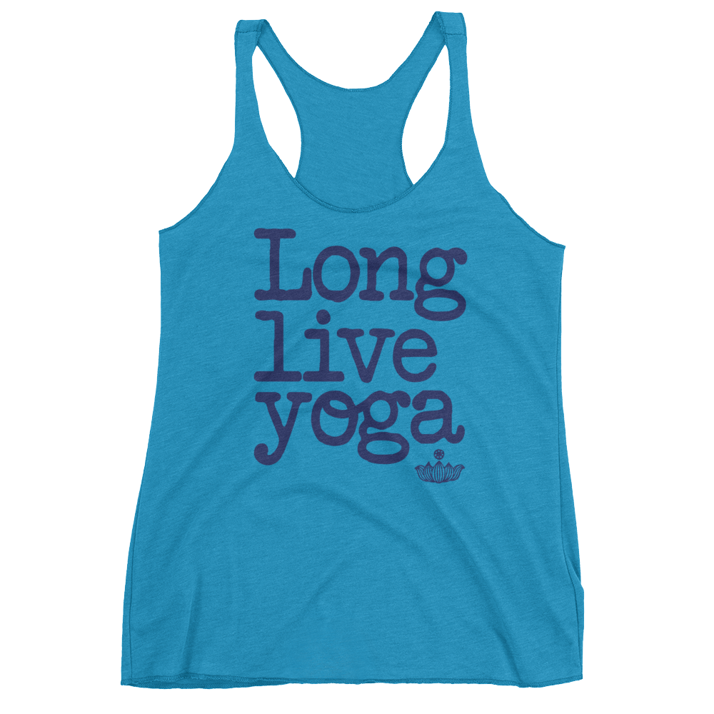 Vegan Yoga Tank Top - Long Live Yoga  - Vintage Turquoise