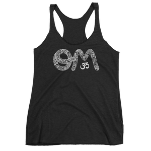 Vegan Yoga Tank Top - Om - Vintage Black