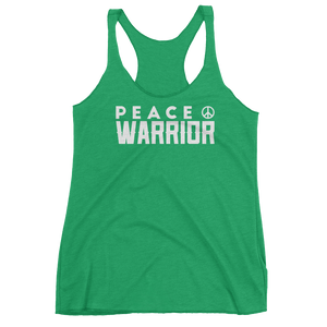 Vegan Yoga Tank Top - Peace Warrior - Envy