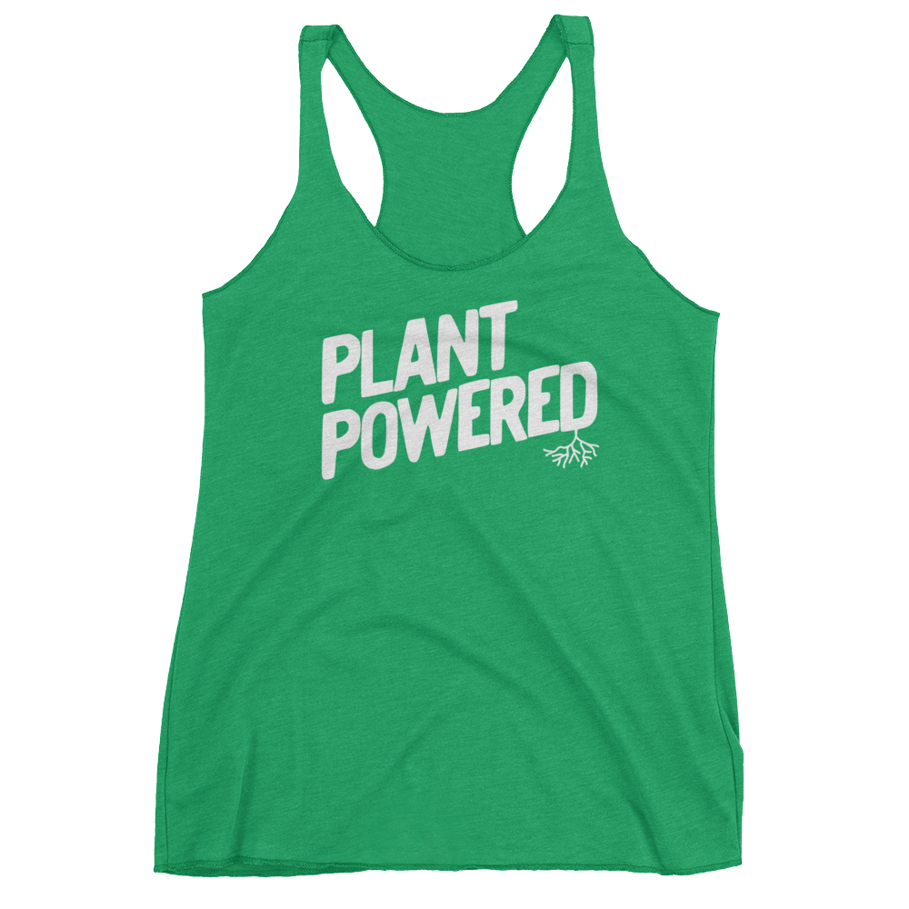 Vegan Tank Top - Plant Powered - Envy (Green)