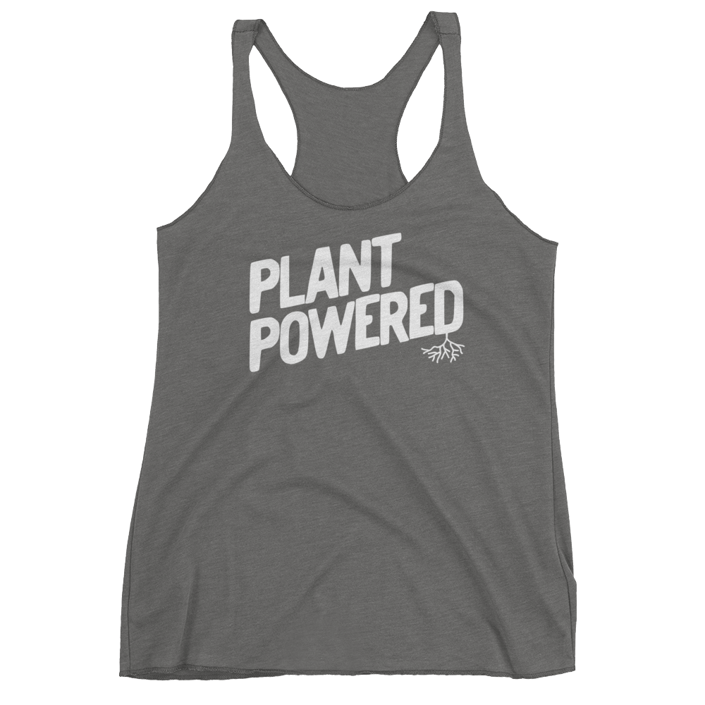 Vegan Tank Top - Plant Powered - Premium Heather