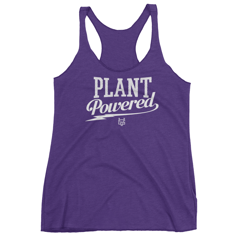 Vegan Tank Top - Plant Powered Thunder - Purple Rush