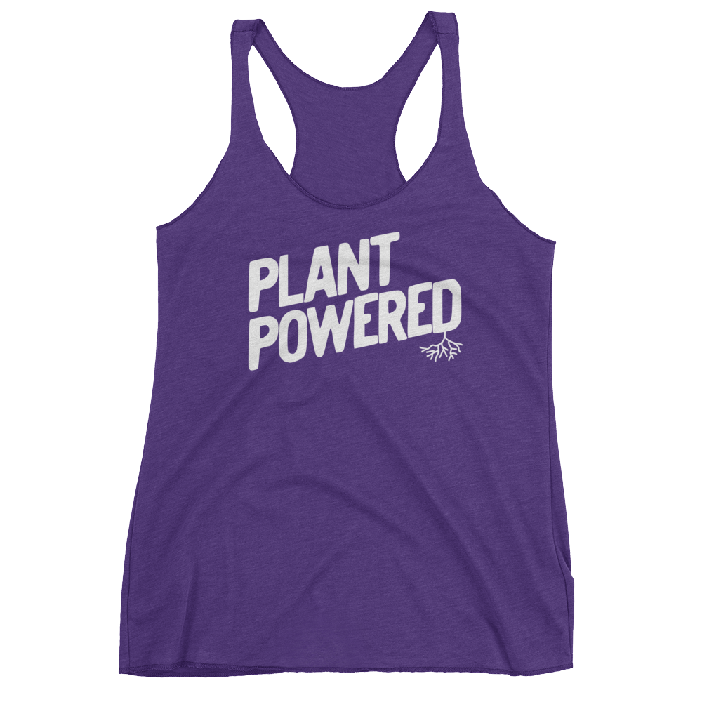 Vegan Tank Top - Plant Powered - Purple Rush