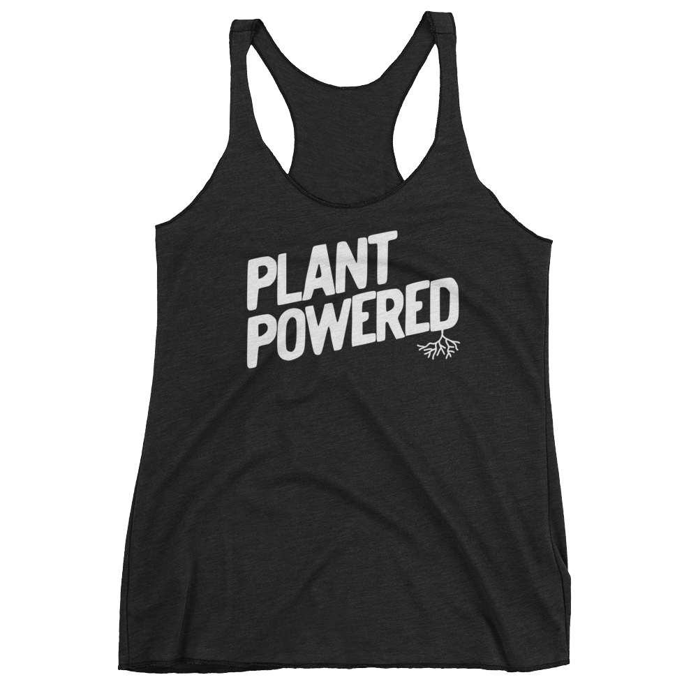 Vegan Tank Top - Plant Powered - Vintage Black