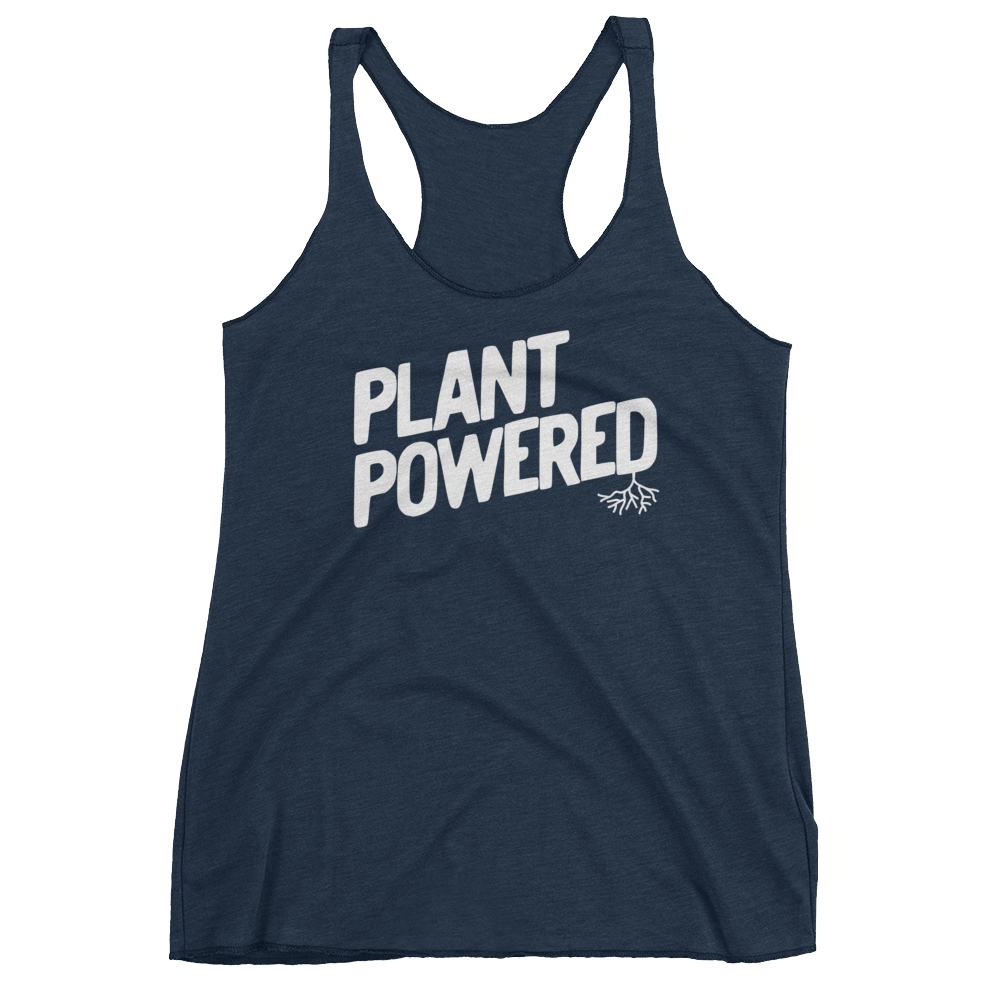 Vegan Tank Top - Plant Powered - Vintage Navy