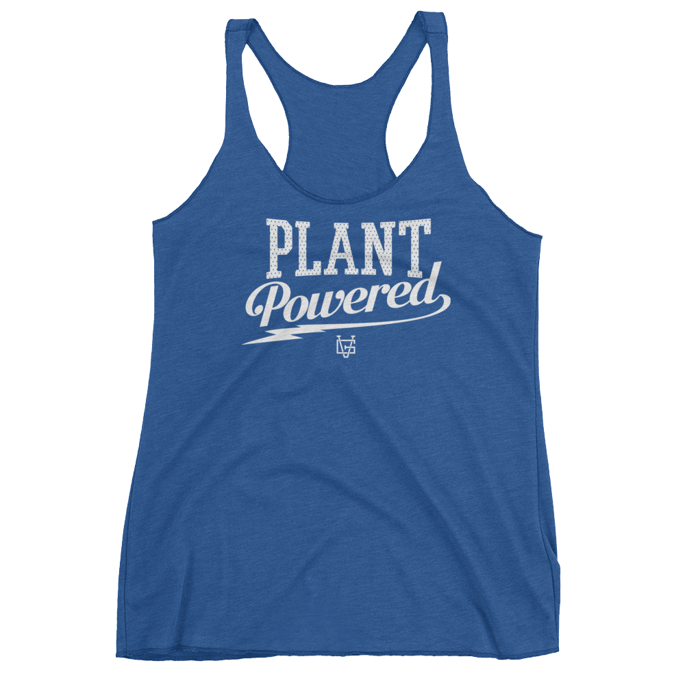 Vegan Tank Top - Plant Powered Thunder - Vintage Royal