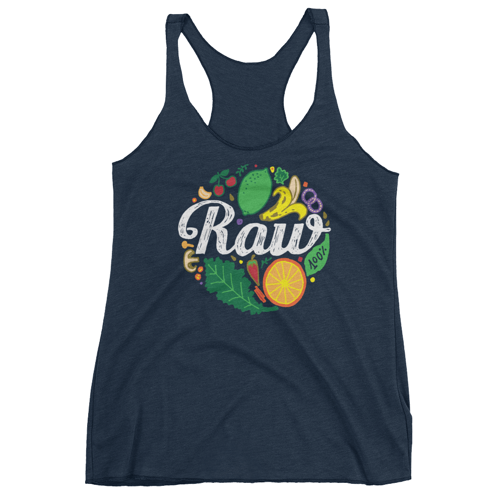 Vegan Tank Top - 100% Raw - Vintage Navy