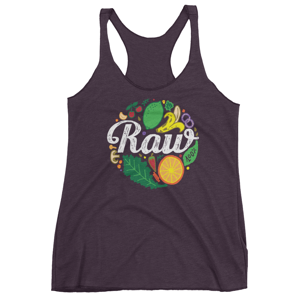 Vegan Tank Top - 100% Raw - Vintage Purple